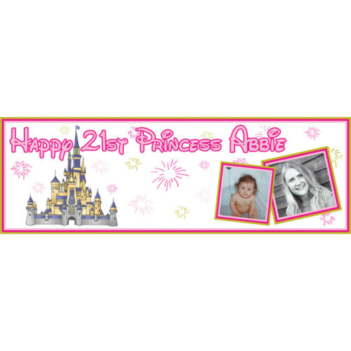 Unique party essential London Essex. personalised large banner for girls 21st birthday