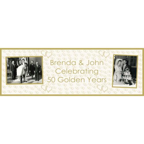 Unique party essentials London Essex personalised large banner for Golden wedding anniversary