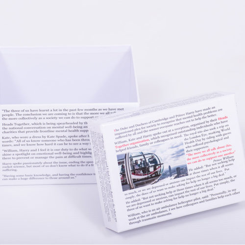 Unique gift ideas London Essex personalised small box with news story themed box