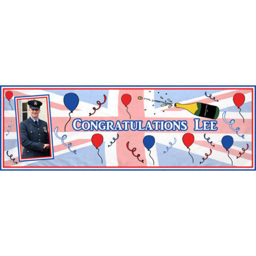 Unique party essential London Essex. personalised large congratulations banner