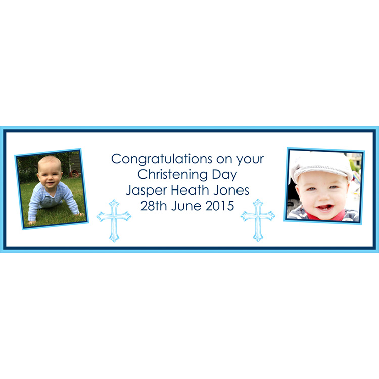 Unique party essential London Essex. personalised large banners for boys christening banner