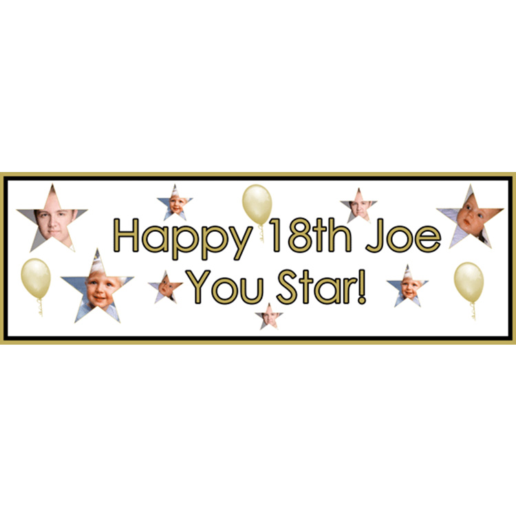 Unique party essential London Essex. personalised large banner for boys 18th birthday