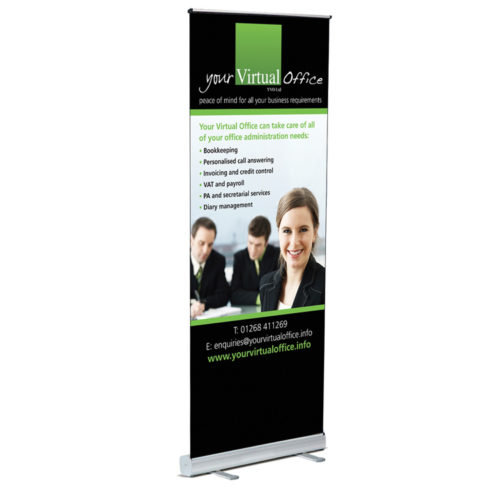 Unique business promotion ideas London Essex personalised roller pop up banner