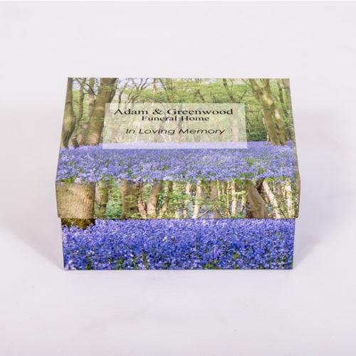 personalised business branded box for funeral directors London Essex Memory keepsake box