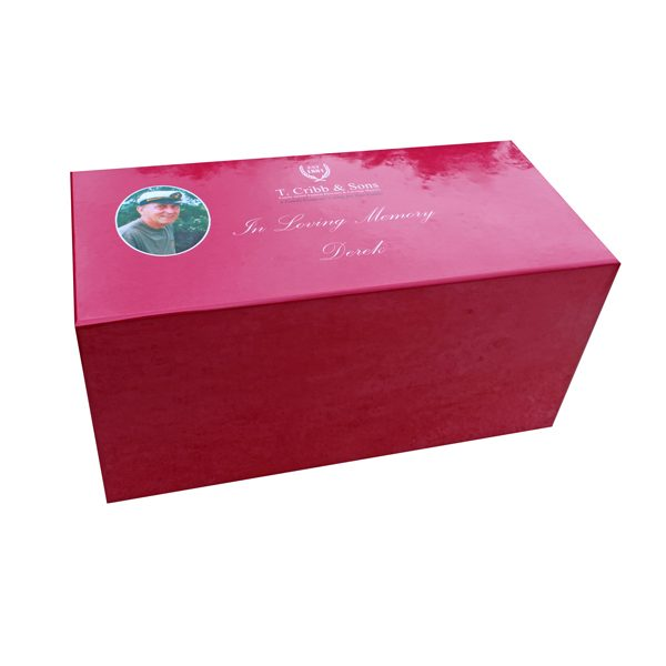 personalised business branded box for funeral directors London Essex Memory keepsake box