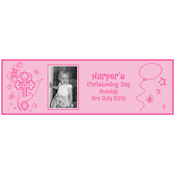 party essentials London Essex personalised Large girls Christening banner