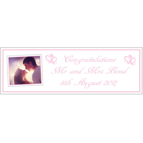 unique gift ideas London Essex personalised Large Wedding banner