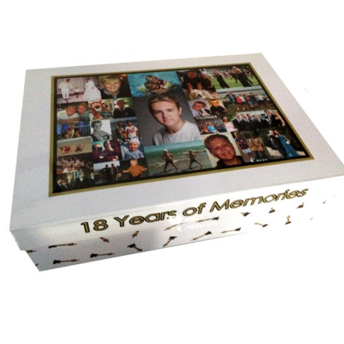 Unique gift ideas London Essex personalised large memory keepsake box for 18th birthday