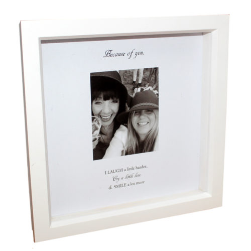 Unique gift idea London Essex personalised framed photo and wording for friends birthday