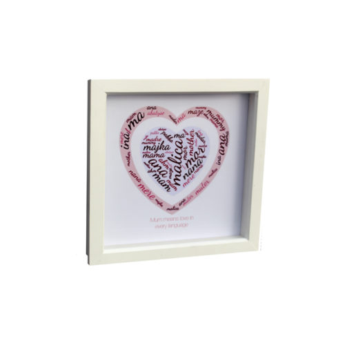 personalised gift idea London Essex Mothers Day boxed frame artwork