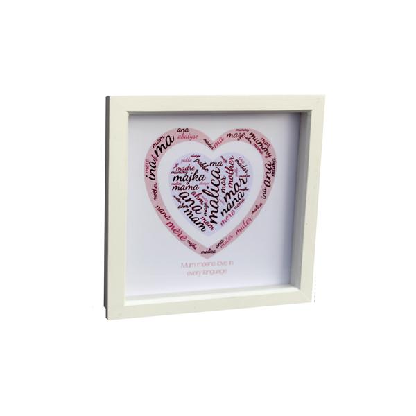 Box Frame - Mum means love