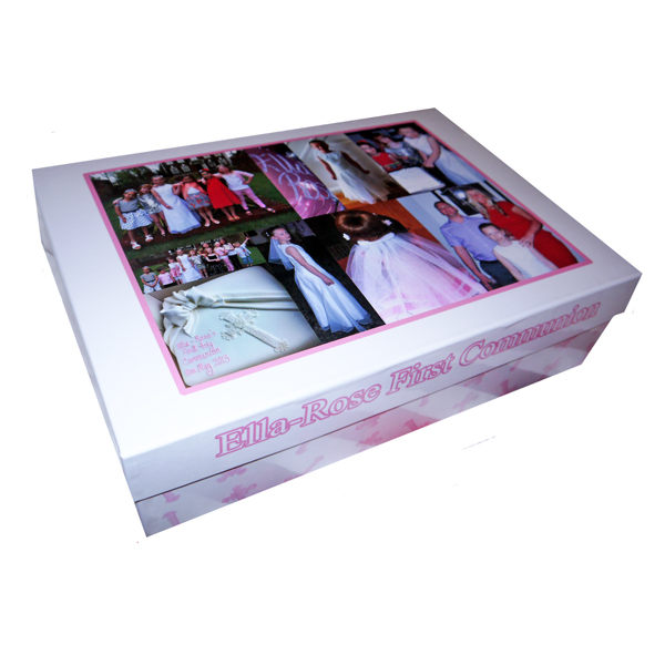 Unique gift ideas London Essex personalised large memory keepsake Holy communion gift box