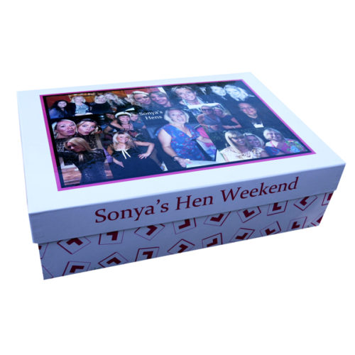 Unique gift idea personalised boys large keepsake memory box for hen weekend