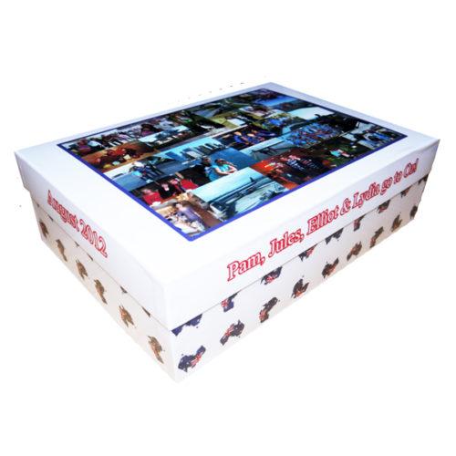 Unique gift ideas London Essex personalised large holiday keepsake box