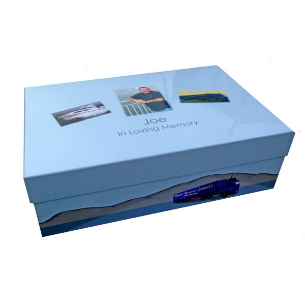 Unique gift idea personalised large 'In loving memory' keepsake box