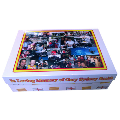 Unique gift idea personalised large 'In loving memory' keepsake box