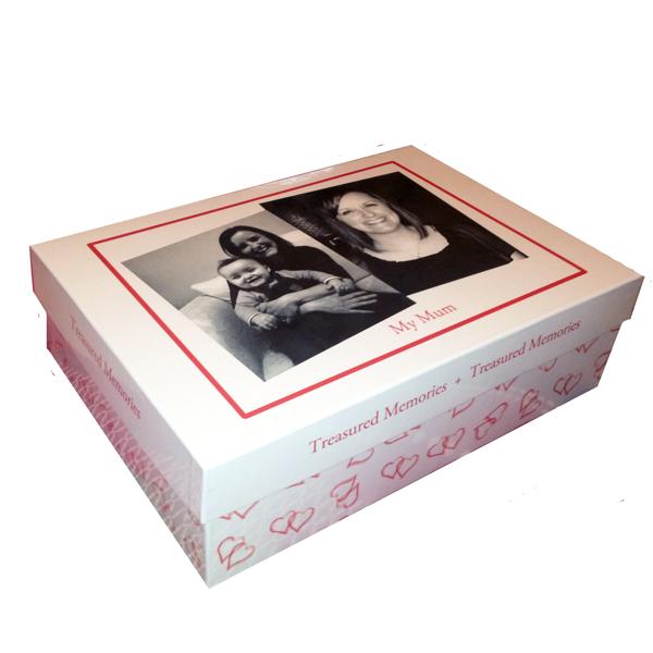 Unique gift idea personalised boys large keepsake memory box