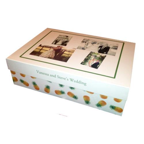 Unique gift ideas London Essex personalised large memory keepsake wedding box