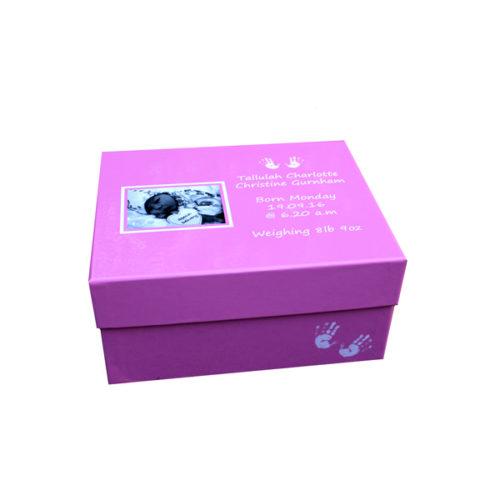 Unique gift idea personalised girls medium keepsake memory box for new baby