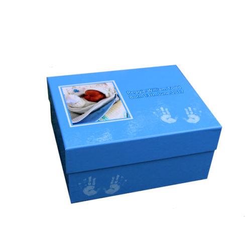 Unique gift idea personalised boys medium keepsake memory box for new baby