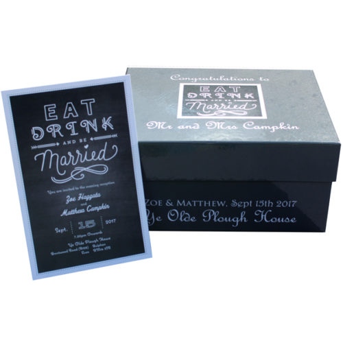 Unique gift ideas London Essex personalised medium memory keepsake box for wedding gift