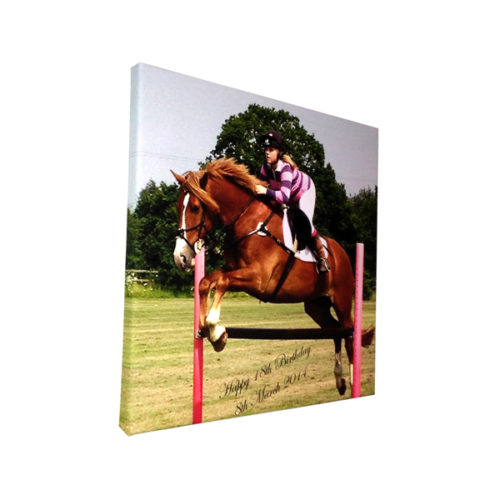 Unique gift ideas London Essex personalised canvas print with wording