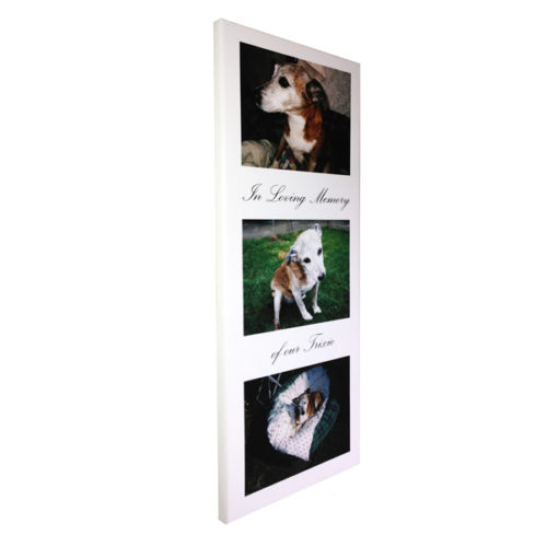 Unique gift idea London Essex personalised bereavement gift for pets canvas print