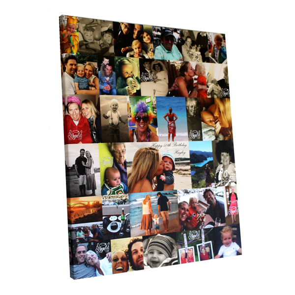 Unique gift ideas London Essex personalised montage for 40th birthday