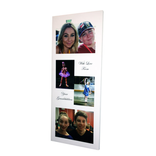 Unique gift ideas London Essex personalised montage of 4 photos with wording