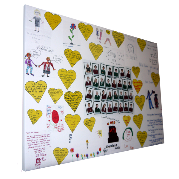 Teacher Best Classroom Quote Gift Present Keepsake Canvas
