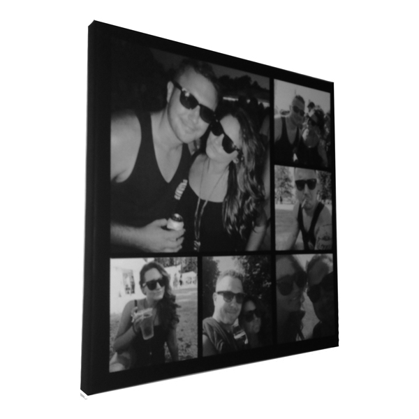 Unique gift idea London Essex personalised montage canvas print for valentines gift