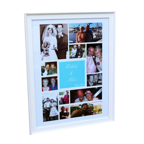Unique gift ideas London Essex personalised poster frame for anniversary gift