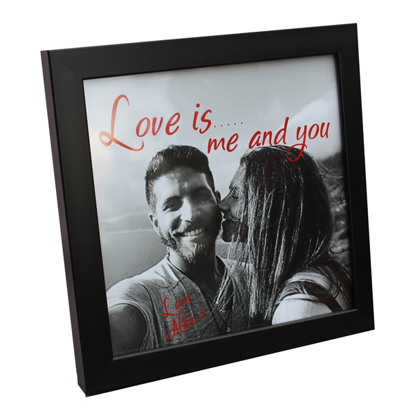 unique gift idea London Essex framed photo with personalised wording