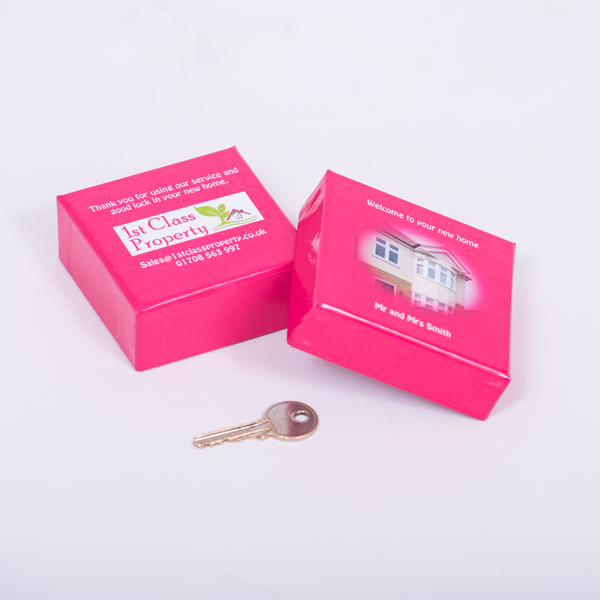 personalised business branded box for estate agents London Essex Trinket Key Box box