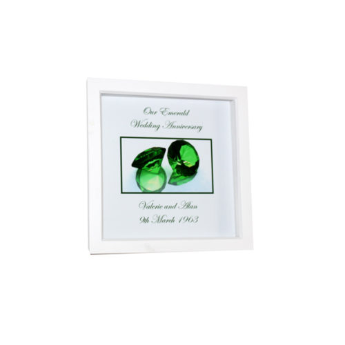 Unique gift idea London Essex personalised 55th wedding anniversary Box framed artwork