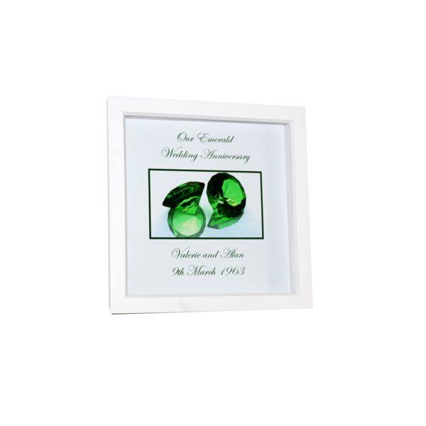 Unique gift idea London Essex personalised 55th wedding anniversary Box framed artwork