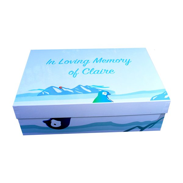 Unique gift idea personalised funeral memory keepsake box