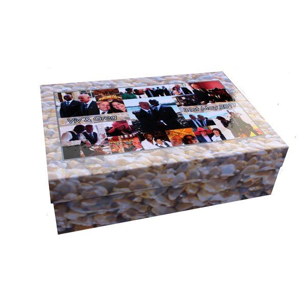 Unique gift ideas London Essex personalised wedding memory keepsake box