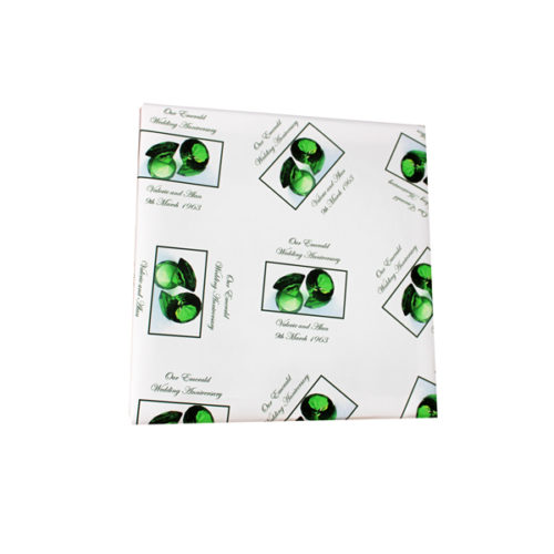 Unique gift ideas London Essex personalised Emerald 55 years anniversary wrapping paper