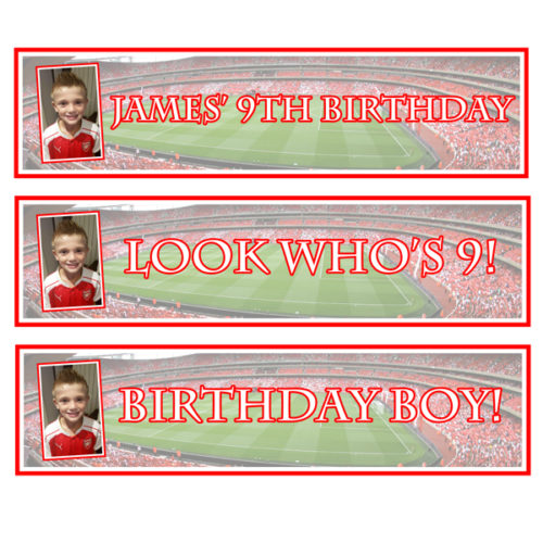party essentials London Essex personalised small banners football themed for boys birthday