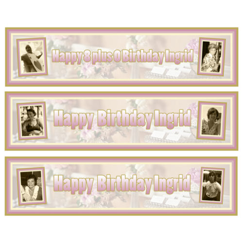 personalised 3 small 80th birthday banners Essex