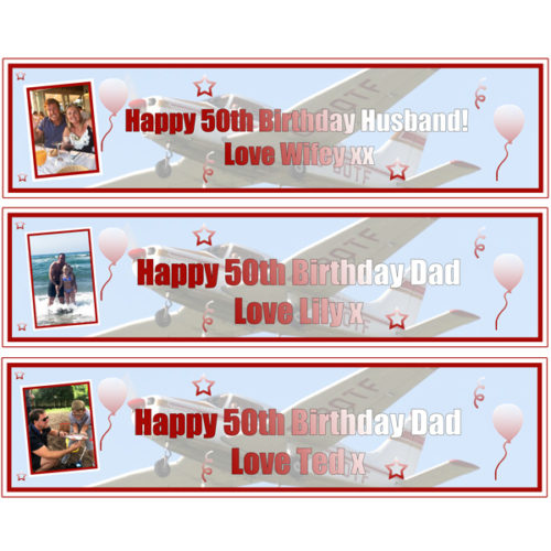 Personalised small 50th birthday banners Essex