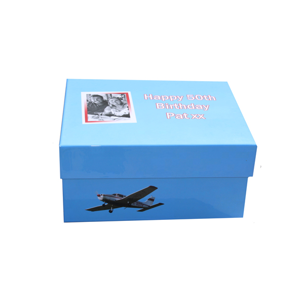 Unique Gift Idea London Essex Personalised 50th Birthday Keepsake Memory Box