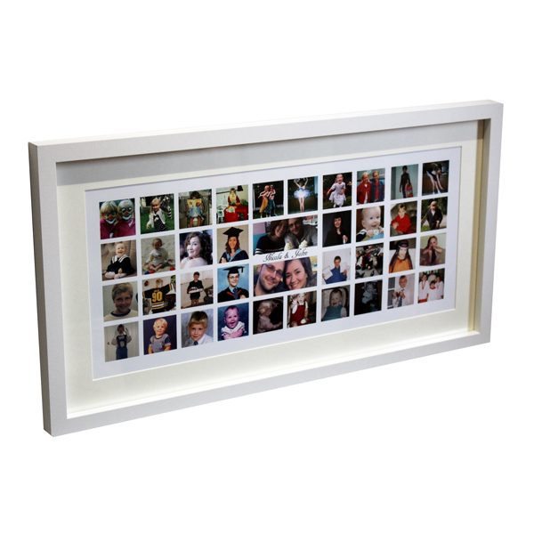 personalised large montage box frame Essex