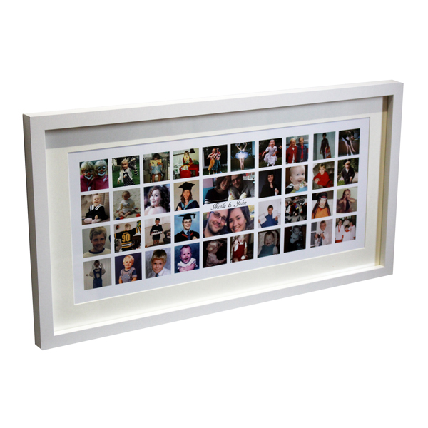 Unique gift ideas London Essex, personalised large montage box frame