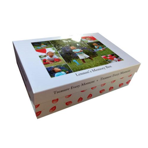 personalised boys 1st birthday large memory box Essex