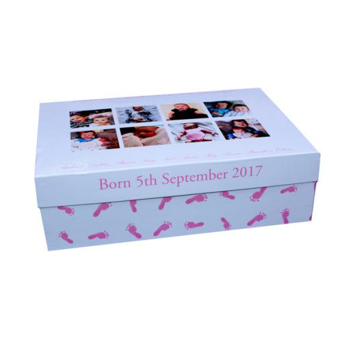Unique gift idea London Essex personalised keepsake memory box for girls christening