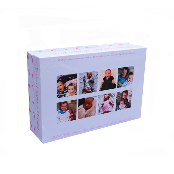 Unique gift idea London Essex personalised keepsake memory box for girls christening