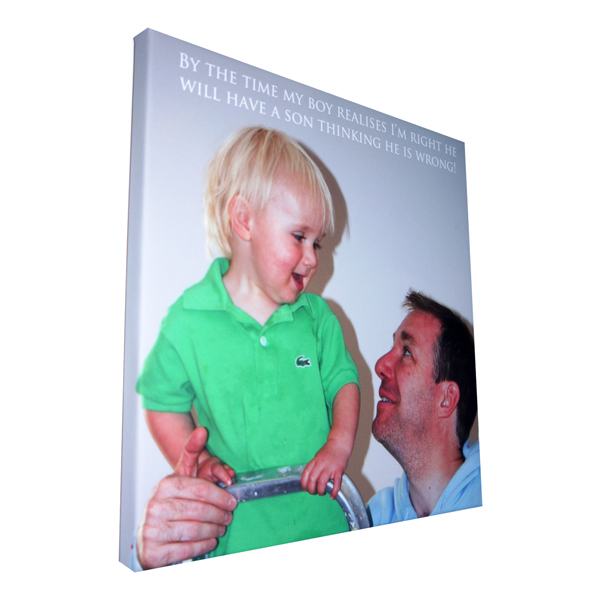 personalised Fathers day gift, dads birthday gift canvas print Essex
