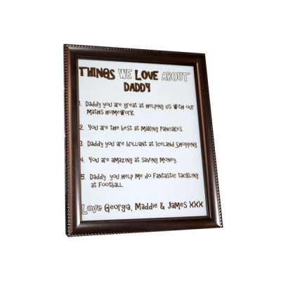 personalised frame work for fathers day gift or dads birthday Essex
